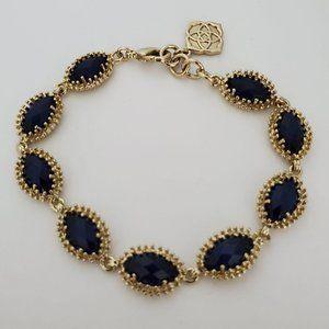 Kendra Scott Navy Blue Jana Bracelet Retired Rare